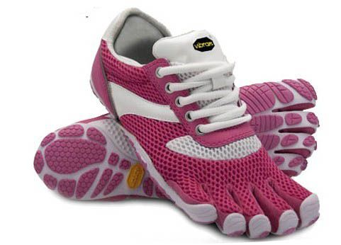 The new 2011 Vibram Five Fingers Jaya for women. A barefoot toe shoe geared towards