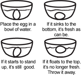 How to determine if your eggs are fresh