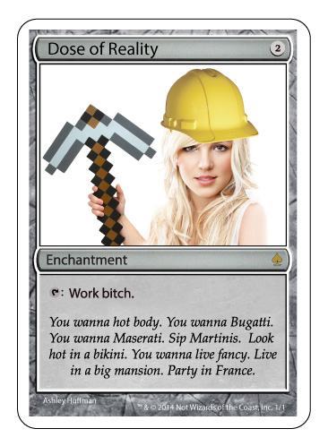 Britney Spears - Magic the Gathering card