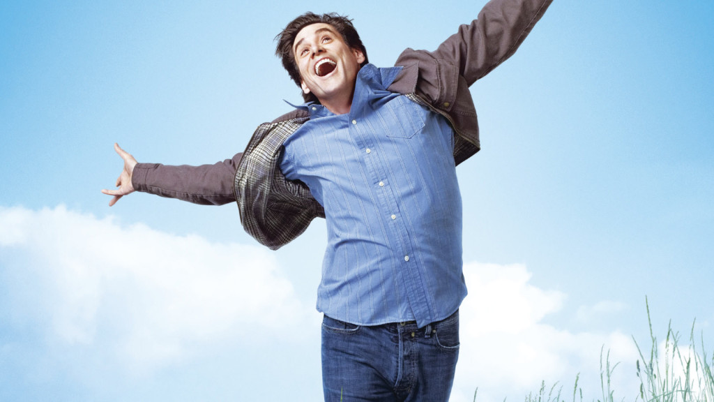 Jim Carrey explains the meaning of life.  Photo by http://1ms.net/jim-carrey-in-yes-man-242059.html
