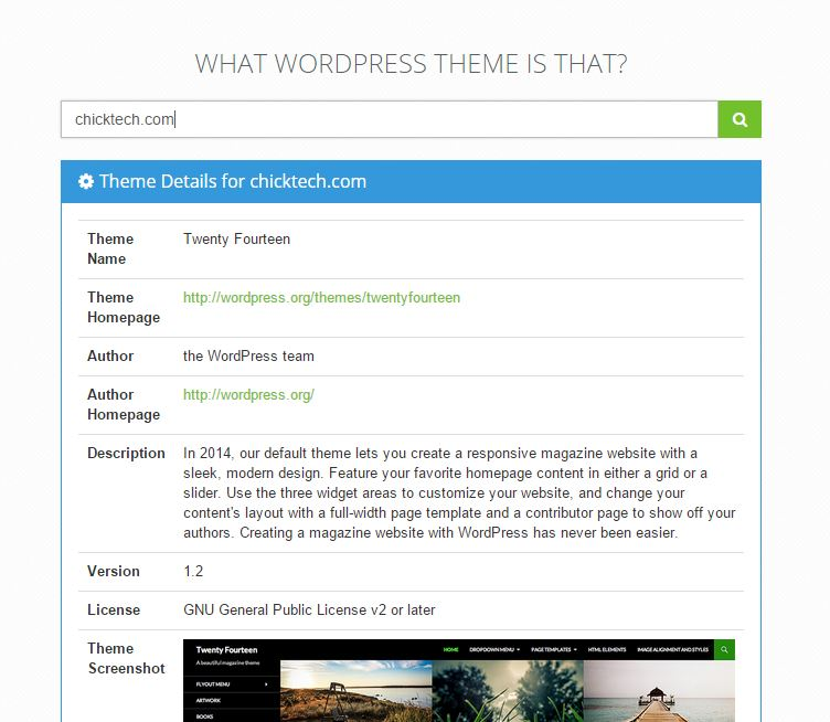 Wordpress theme chicktech