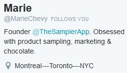 Marie Chevy Twitter Details