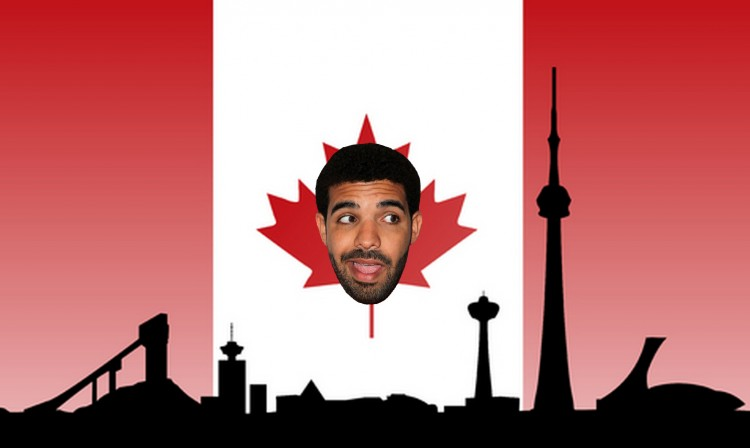 Drake & Canada. Image by: http://hypefreshmag.com/wp-content/uploads/2015/08/50-Cent-said-drake-had-all-of-canada-at-the-ovo-fest-e1438714458846.jpg